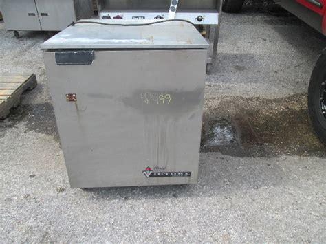 victory ur  sst  counter single door stainless steel cooler fridge