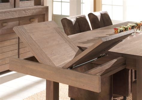 table salle a manger teck table de salle a manger bois massif avec rallonge