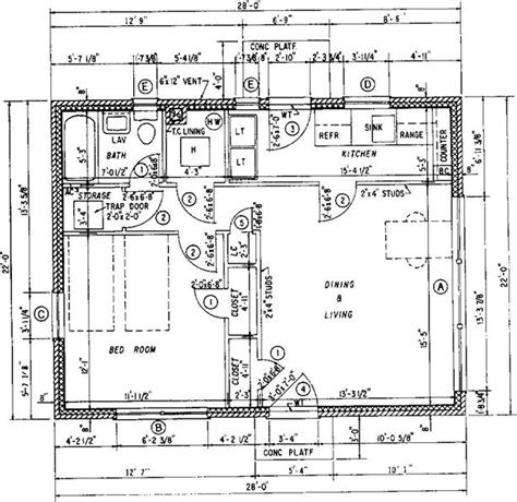 standard floor plan dimensions building construction finishing