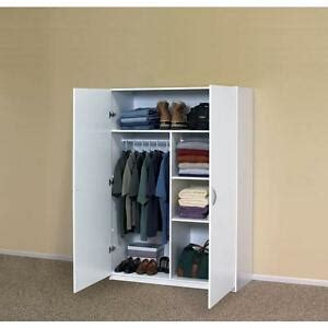 Wardrobe Closet White - white storage cabinet closet armoire clothing wardrobe
