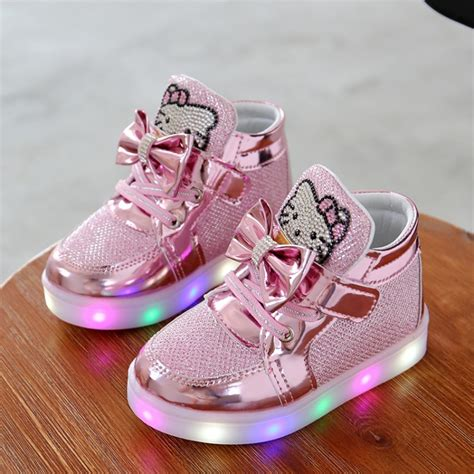 Sepatu Anak Led Shoes Ferary fashion led shoes baby shoes light up glowing sneakers princess children