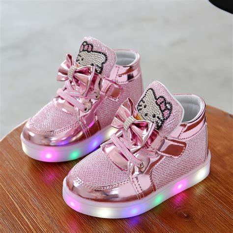 Stkd127 Setelan Anak Hoodie Pink Cat 1 fashion led shoes baby shoes light up glowing sneakers princess children