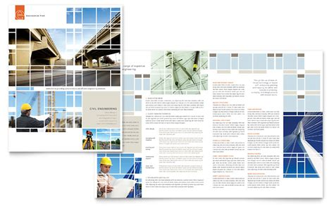 Engineering Brochure Templates civil engineers brochure template word publisher