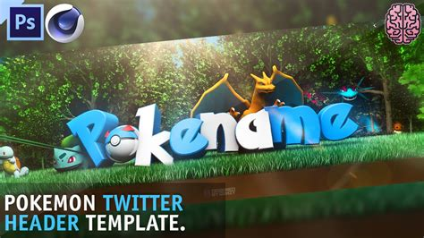 template header photoshop free pokemon header template c4d photoshop by qehzy