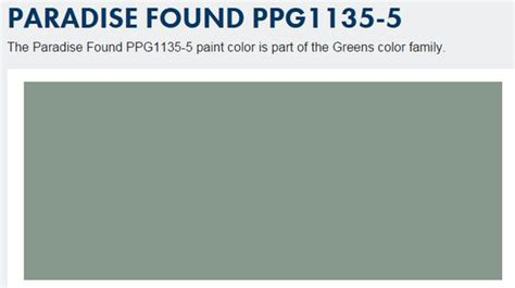 paradise found ppg1135 5 paint color by ppg pittsburgh paints the paradise found paint color is