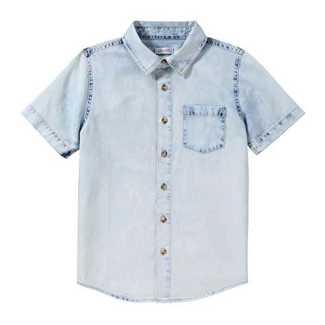 Boy Denim Shirt kid boys bleached denim shirt boys fashion