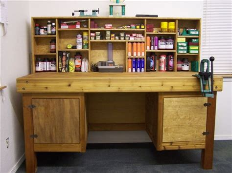 vanity bench  storage reloading bench plans reloading