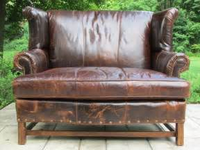 Gothic Dining Room Vintage Brown Distressed Quot Attic Quot Leather Library Sofa