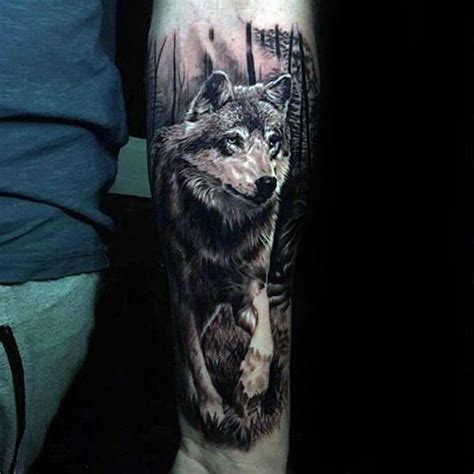 3d wolf tattoo 50 realistic wolf designs for canine ink