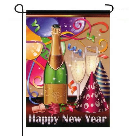 New Happy Garden by Happy New Year Garden Flag Celebration Flags Themes