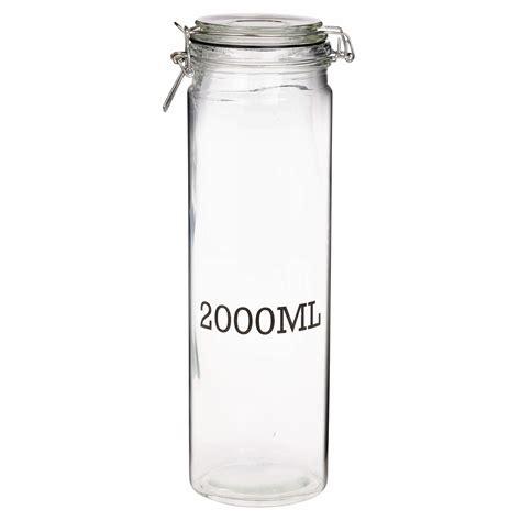 Storage Jar large glass storage jar with air tight sealed metal cl