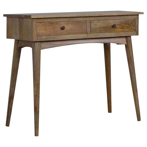 handmade mango 2 drawer console table console