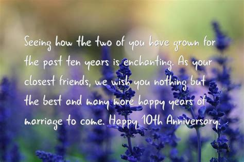 Wedding Anniversary Wishes 10 Years by 10 Years Anniversary Quotes