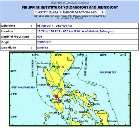 earthquake update longer earthquake shakes luzon saturday afternoon