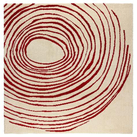 lovely round carpets ikea #1: eivor-cirkel-rug-high-pile-white-red__0137766_pe296493_s5.jpg