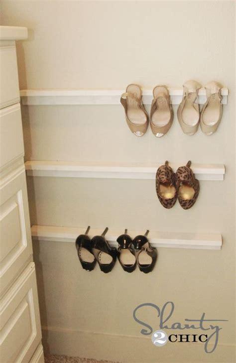 Diy Closet Shoe Organizer by Closet Organization Shoe Organizers Diy Closet
