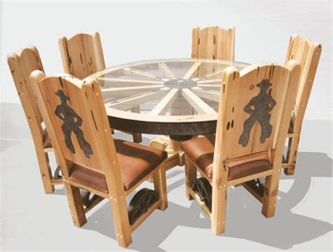 Western Dining Room Tables by Best 25 Wagon Wheel Table Ideas On Wagon