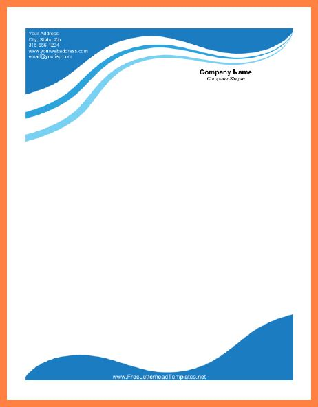 business letterhead with blue waves business letterhead waves 28 images business style