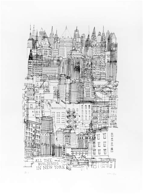 All The Buildings In New York Screenprint | James Gulliver