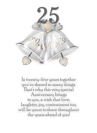 free card verses for 25th wedding anniversary silver wedding anniversary quotes quotesgram