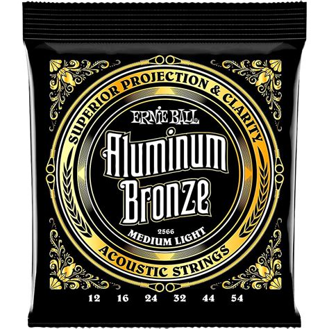 Ernie Ball Aluminum Bronze Medium Light Acoustic Guitar Light Guitar Strings Vs Medium