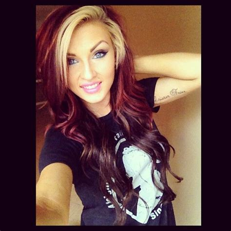 i dyed my hair red and it turned black this is how i had my hair but the red kept turning my