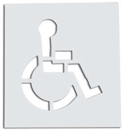 handicap template s reusable plastic paint stencils are made from tough