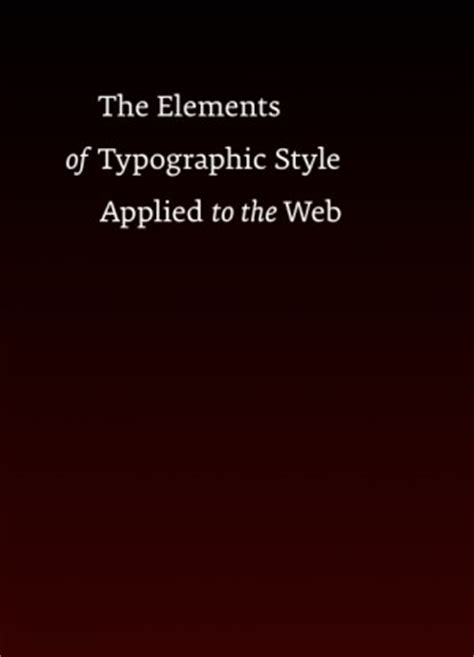 the elements of typographic 137 free ebooks on user experience usability user interface design and more