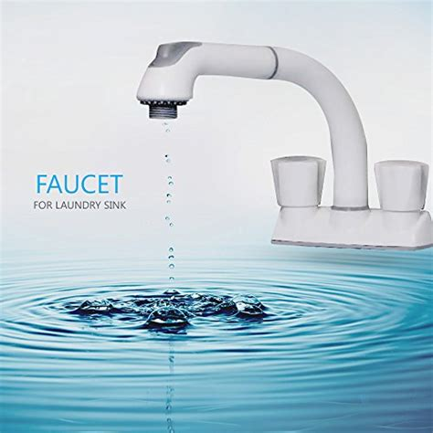 utility faucet 8 inch cleanflo 481 pull out laundry faucet 3 hole installation