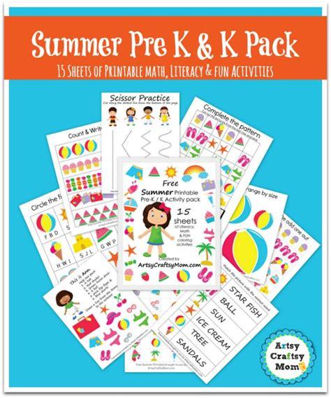 summer theme for preschool the free summer printable pack for preschool and kindergarten