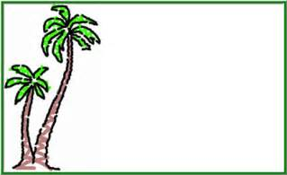 tree name tags powerpoint templates free palm tree template
