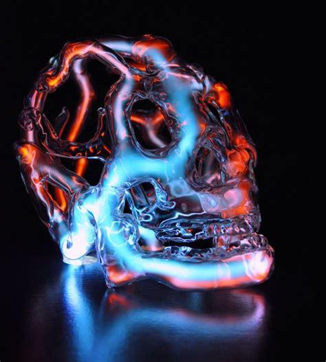 Scary Neon Skull Lights Randommization Skull Lights