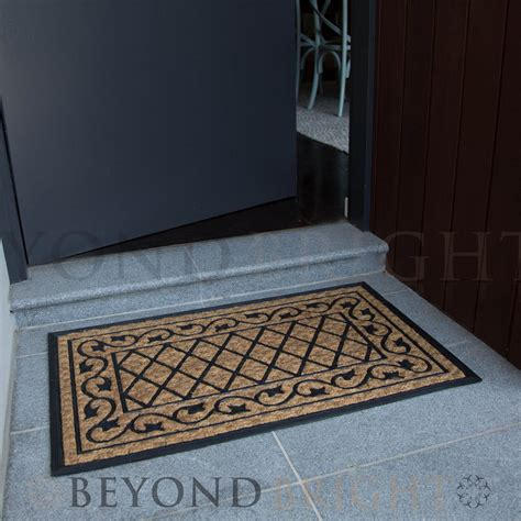 Coir And Rubber Doormat - doormat 45x90 cm coir flower heavy duty entrance