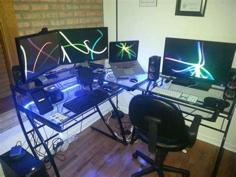 L Desks For Gaming L Shaped Gaming Desk Glass Fascinating L Shaped Gaming Desk Babytimeexpo Furniture