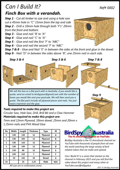 finch house plans simple finch nest box