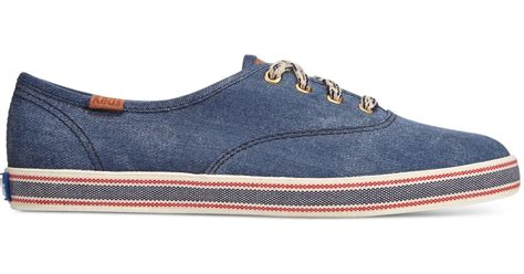 Sepatu Keds Chion Blue Denim keds s chion americana sneakers in blue denim lyst