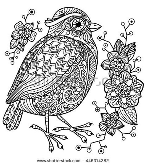 coloring book birds and flowers stress relief coloring book garden designs mandalas animals florals and paisley patterns books stock images royalty free images vectors