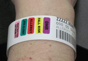 hospital wristband color meaning patient wrist bands charles george va center