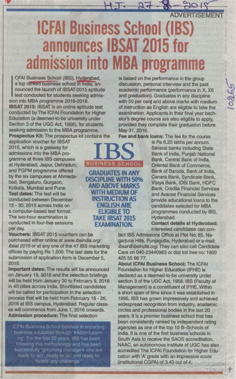 Icfai Hyderabad Mba by Icfai Business School Ibs Hyderabad Secundrabad Telangana
