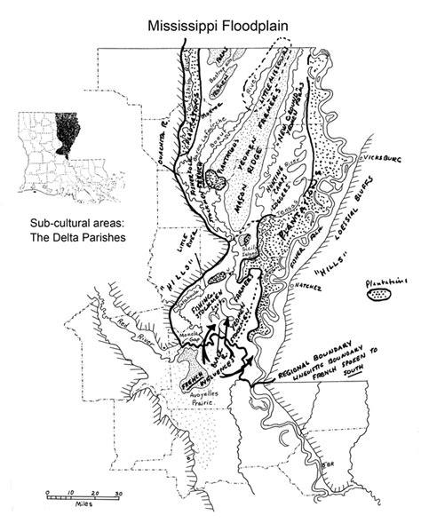 louisiana delta map map cultural micro regions of the delta northeast louisiana