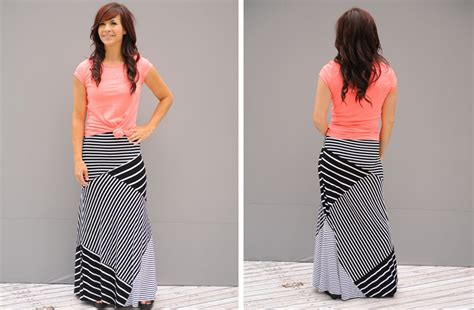 groopdealz bold black and white maxi skirt