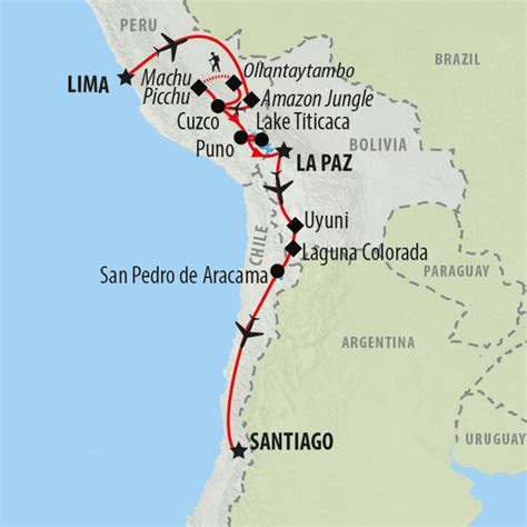 santiago chile map chile tours and holidays to chile on the go tours