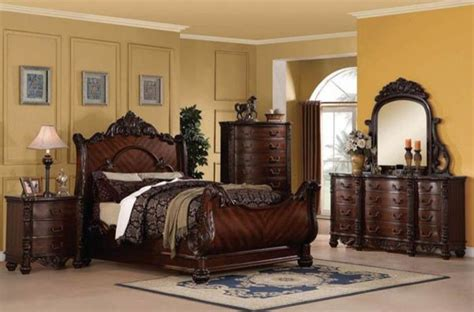 california king sleigh bedroom set acme furniture jacob traditional dark cherry california
