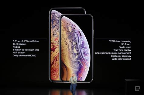 速報 iphone xsとxs max発表 5 8型と6 5型oled版モデルは処理速度と防水性能向上 engadget 日本版