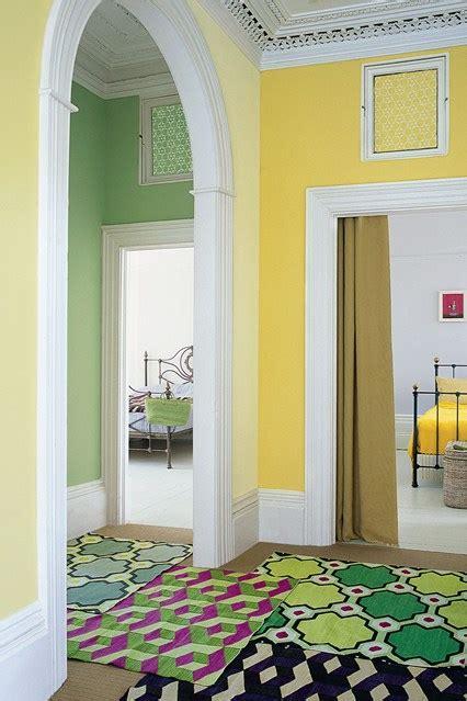 pastel geometric scheme wall feature wall paint colour ideas houseandgarden co uk