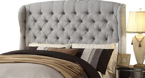 feliciti gray tufted with wings queen upholstery headboard