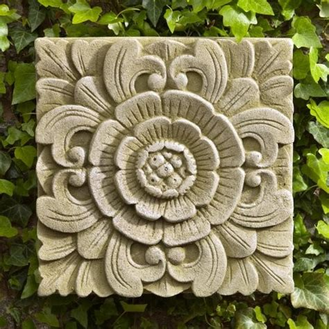 Cania International Square Eden Cast Stone Outdoor Wall Garden Wall Plaques