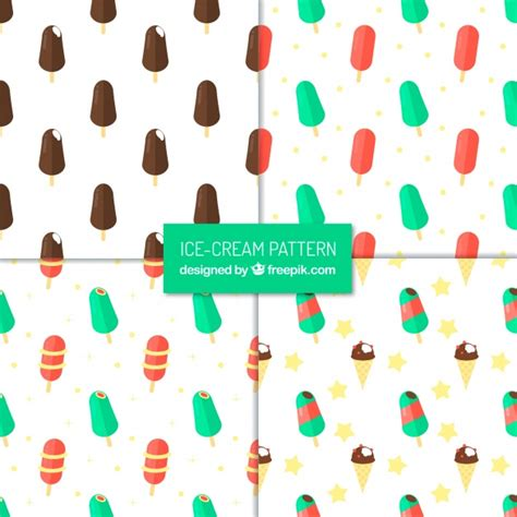 iced layout editor download assortment of great patterns with ice creams in flat