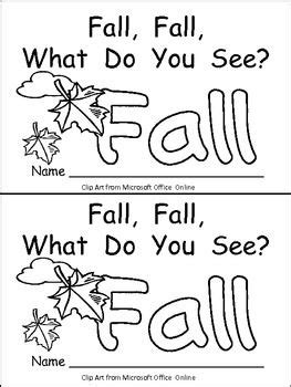 leaves fall down printable book fall fall what do you see kindergarten emergent reader