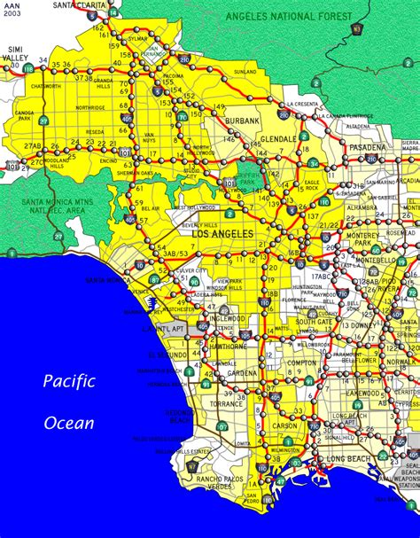 los angeles on map of usa los angeles california map